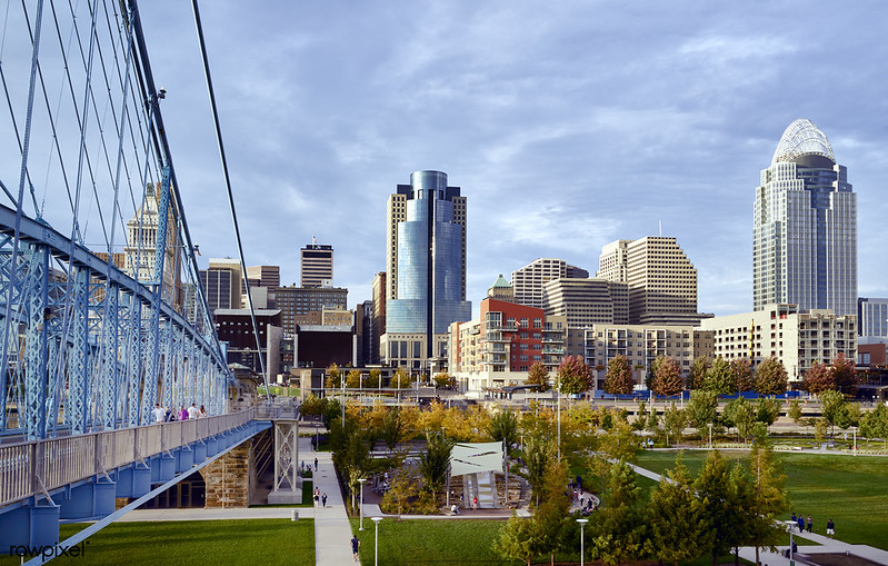 View of Cincinnati, OH from across the Ohio river